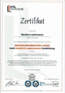 Ernährungsberatung Basic Martina Ledermann, Ernährungsberaterin